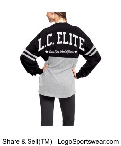 ADULT Long Sleeved Jersey Tee L.C. ELITE Design Zoom
